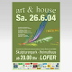 Malerei und Ölbilder: Performance Art und house 2004, Plakat<br />Multimediaperformance,  - Lofer,  - 2004.